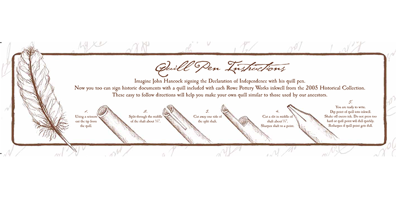 quill pen instructions
