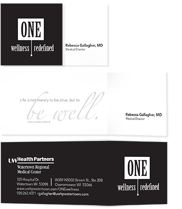 one business card