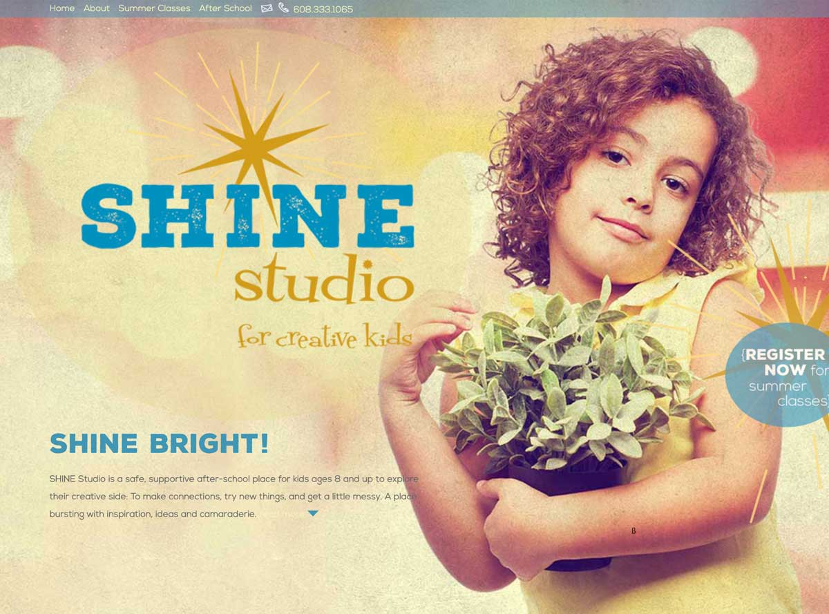 Shine Studio Edgerton website